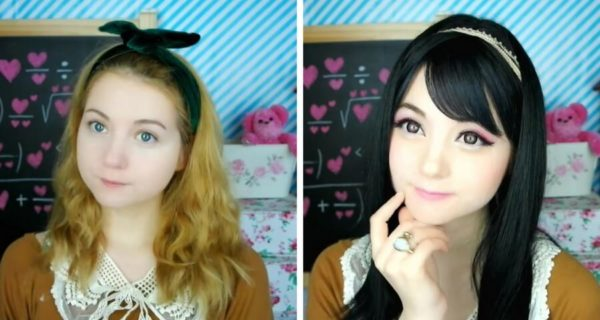 Из азиатки сделали европейку макияж thumbnail
